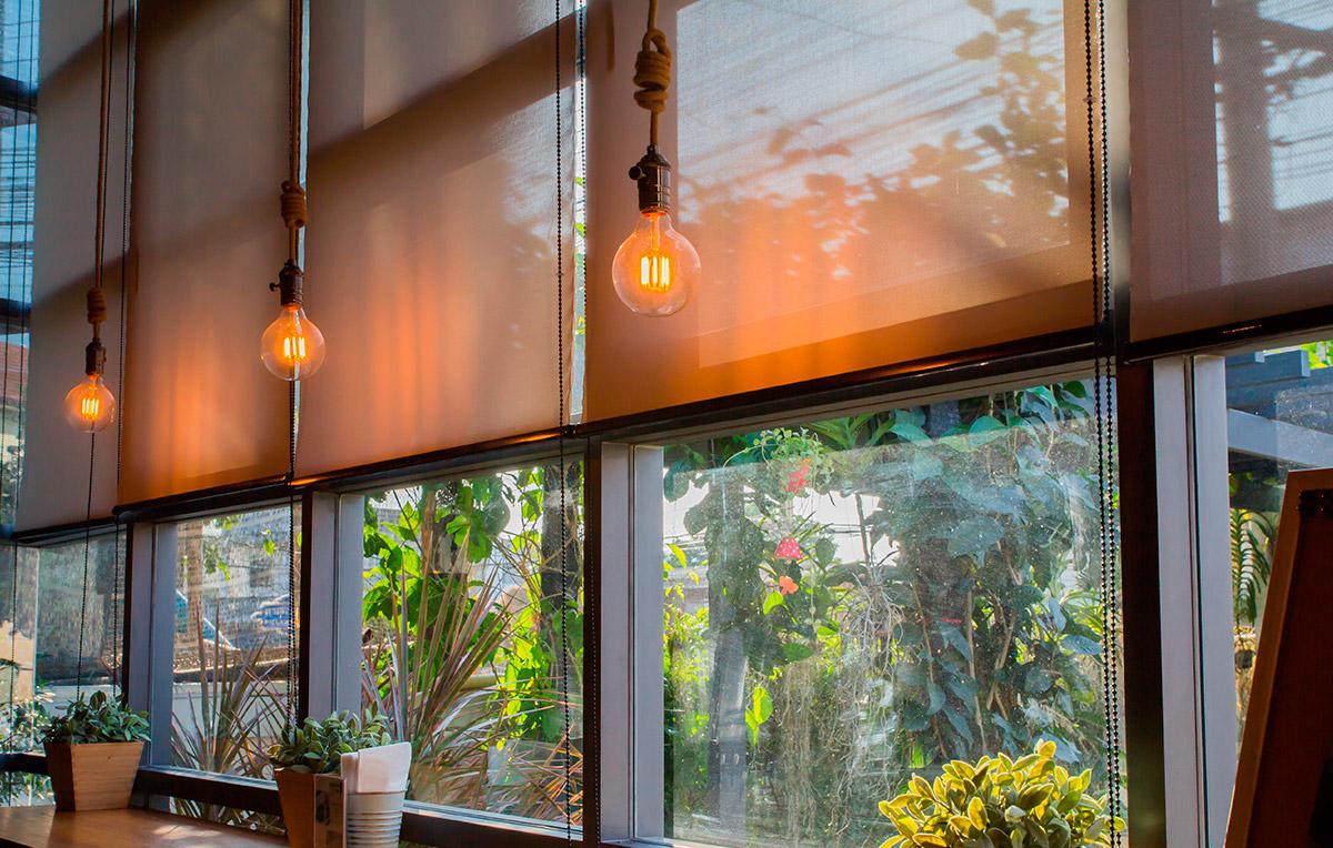 Estores cortinas textura lino